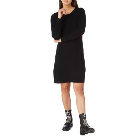 Cocoa Cashmere Black Knee Length Cashmere Dress