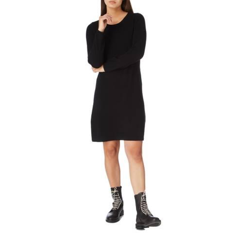Cocoa Cashmere Black Knee Length Cashmere Dress