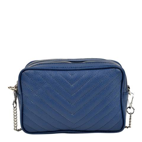 Isabella Rhea Isabella Rhea Blue Quilted Leather Shoulder Bag