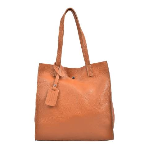 Isabella Rhea Tan Leather Tote Bag