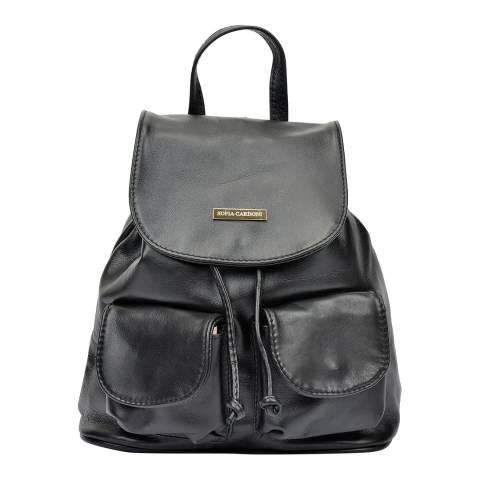 Sofia Cardoni Sofia Cardoni Black Slouch Drawstring Backpack