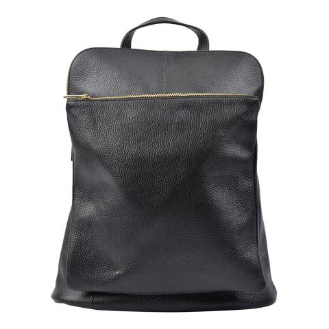 Isabella Rhea Black Leather Backpack