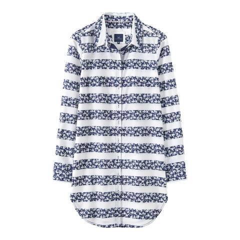 Crew Clothing Navy/White Printed Beach Shirt