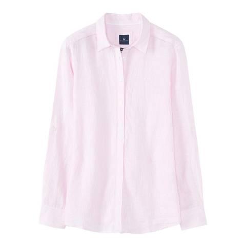 Crew Clothing Pink/White Stripe Linen Shirt
