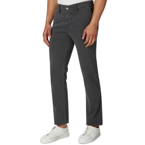 7 For All Mankind Graphite Luxe Sateen Stretch Slim Chinos
