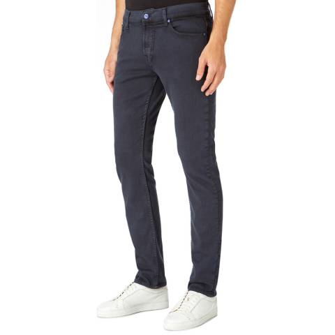 7 For All Mankind Ink Blue Ronnie Stretch Skinny Jeans