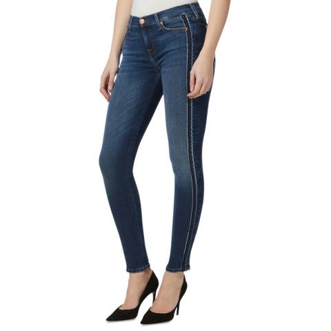 7 For All Mankind Indigo Outseam Skinny Stretch Jeans