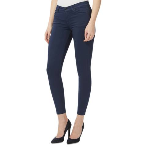 7 For All Mankind Indigo Classic Cropped Skinny Stretch Jeans