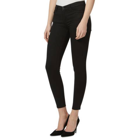 7 For All Mankind Black Classic Cropped Skinny Jeans