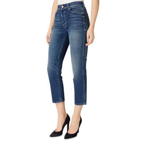 7 For All Mankind Dark Blue Edie Skinny Stretch Jeans