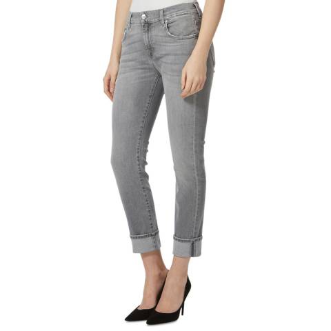 7 For All Mankind Grey Illusion Stretch Skinny Jeans