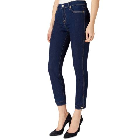 7 For All Mankind Dark Denim Roxanne Skinny Stretch Jeans
