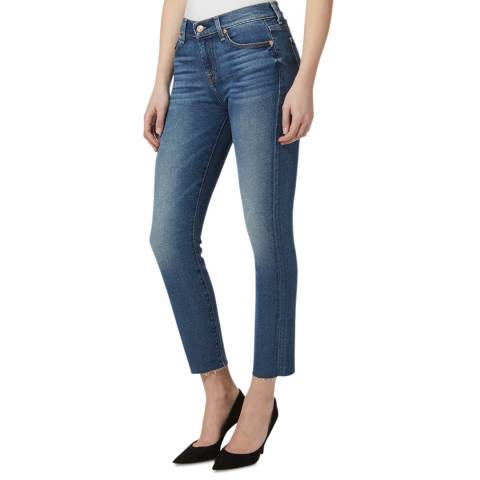 7 For All Mankind Blue Roxanne Luxe Stretch Skinny Jeans