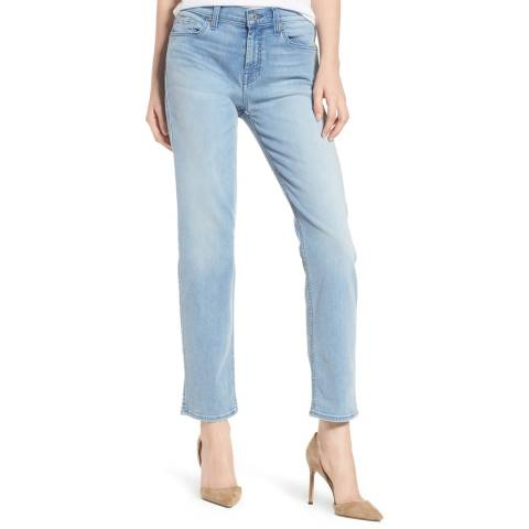 7 For All Mankind Light Blue Bair Roxanne Stretch Skinny Jeans