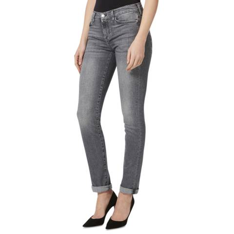 7 For All Mankind Grey Wash Roxanne Stretch Jeans