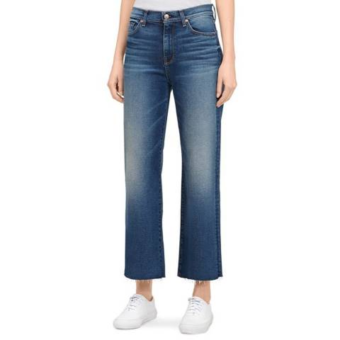 7 For All Mankind Blue Cropped Alexa Stretch Jeans