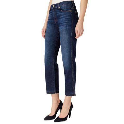 7 For All Mankind Indigo Kiki Stretch Slim Bootcut Jeans