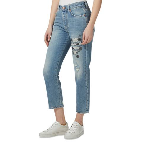 7 For All Mankind Light Blue Josefina Slim Jeans