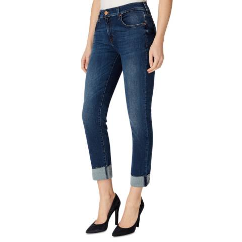 7 For All Mankind Indigo Illusion Stretch Relaxed Skinny Jeans