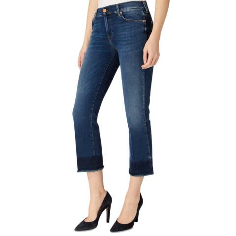 7 For All Mankind Indigo Illusion Stretch Slim Bootcut Jeans