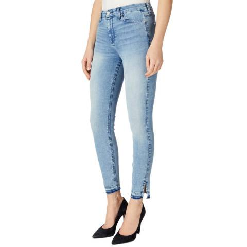 7 For All Mankind Light Blue Bair Mirage Stretch Skinny Jeans