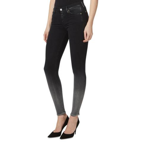 7 For All Mankind Black Illusion Luxe Stretch Skinny Jeans