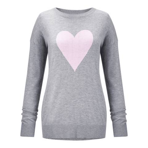 Baukjen Grey/Soft Blush Bella Intarsia Knit