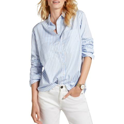Baukjen Blue/White Marley Boyfriend Shirt