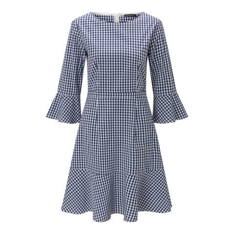 Baukjen Blue Lyra Frill Dress