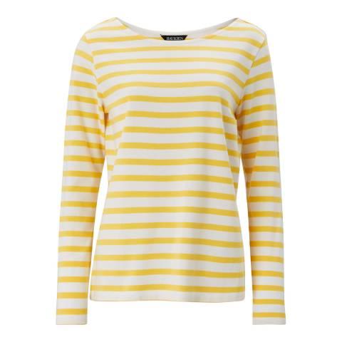 Baukjen Yellow/White Callie Relaxed Top