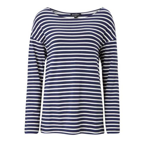 Baukjen Navy/White Remi Relaxed Top