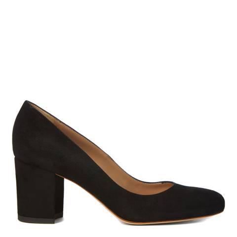 Hobbs London Black Suede Bettie Court Shoe