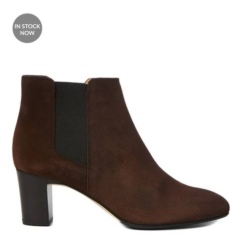 Hobbs London Brown Suede Petra Heeled Chelsea Boot