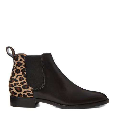 Hobbs London Black Leopard Wren Chelsea Boot