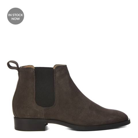 Hobbs London Grey Suede Wren Chelsea Boot
