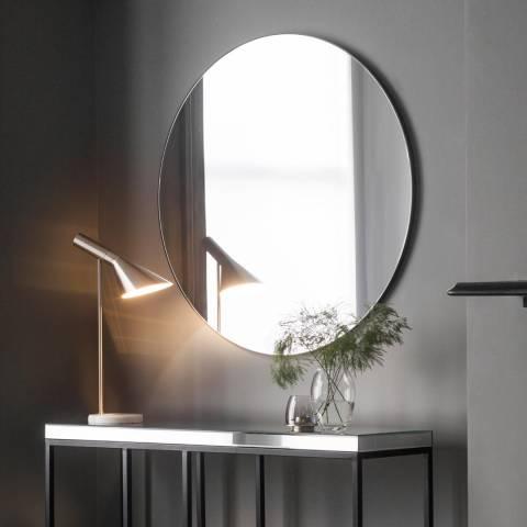 Gallery Hayle Round Mirror Black 100cm