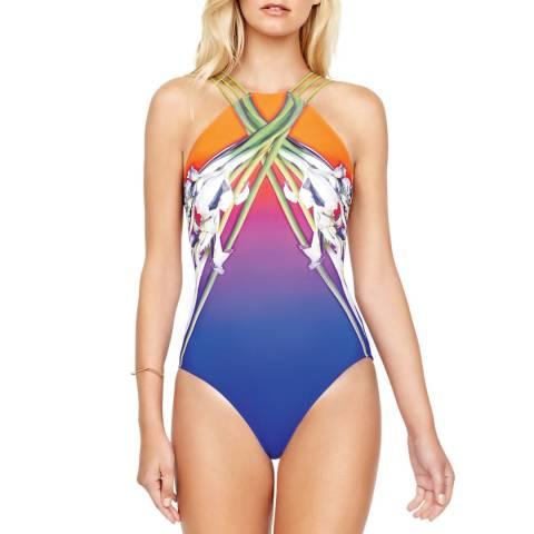 Gottex Ombre Iris Sunrise High Neck Swimsuit