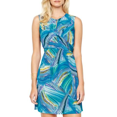Gottex Blue Tourmaline Silk Dress