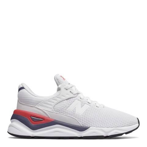 New Balance White Mesh X90 Sneakers