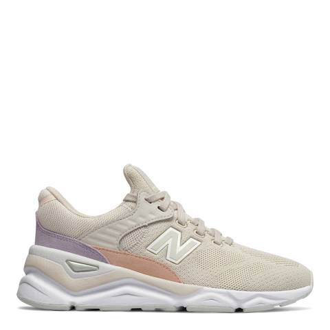 New Balance Cream Moonbeam X90 Sneakers