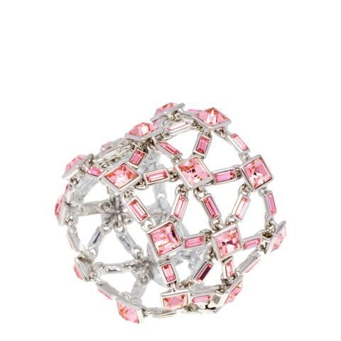 Simon Harrison Pink Rhodium Claudette Crystal Bracelet