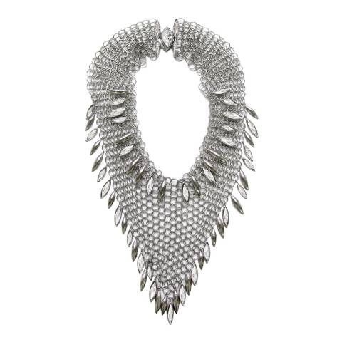 Simon Harrison Clear Minerva Navette Chainmail Necklace Medium
