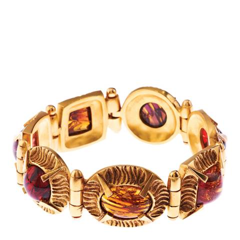 Simon Harrison Amber Gold Angevin Glass Cabochon Bracelet