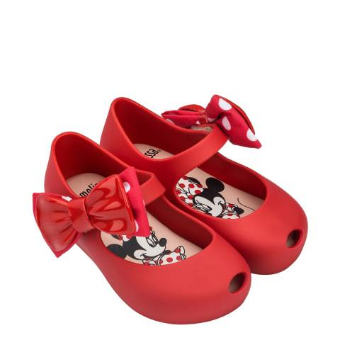 Mini Melissa Red Mini Disney Ultra Bow Shoe