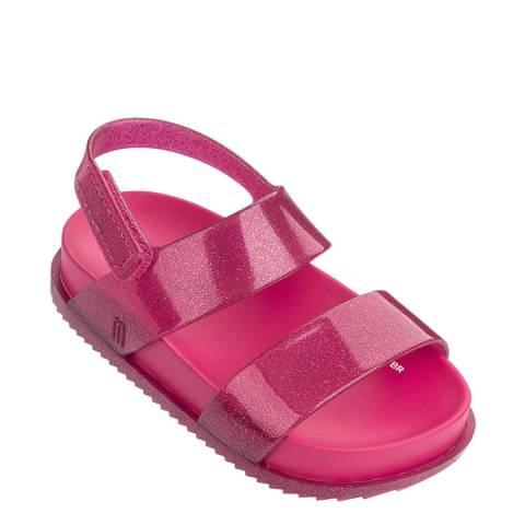 Mini Melissa Pink Glitter Mini Cosmic Sandal