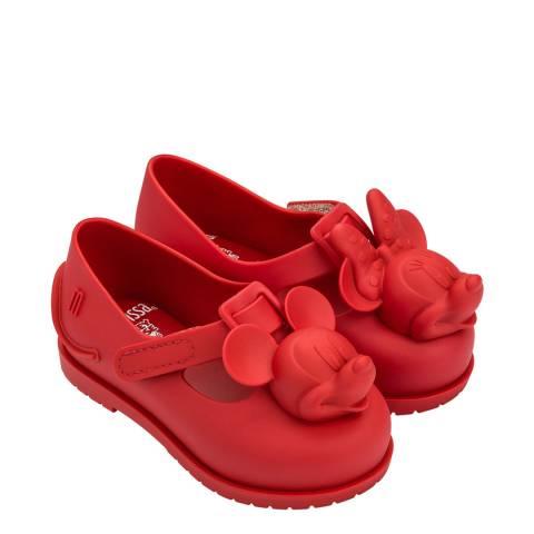 Mini Melissa Red Minnie Mini Disney Classic Shoes