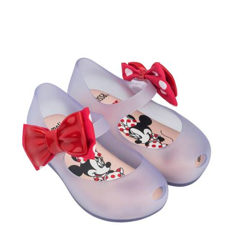 Mini Melissa Clear Contrast Mini Disney Ultra Bow Shoe