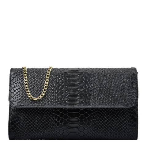 Isabella Rhea Black Clutch Chain Bag