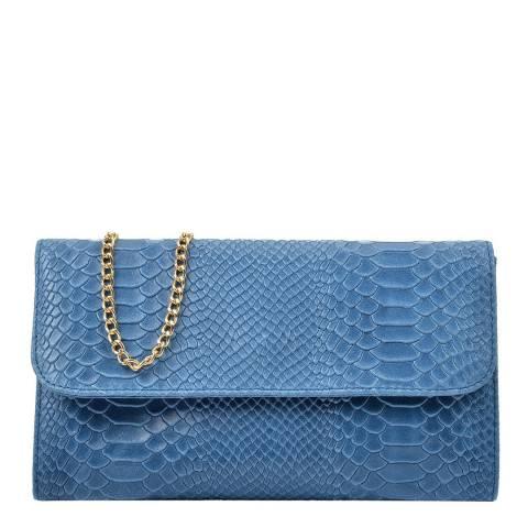 Isabella Rhea Blue Clutch Chain Bag