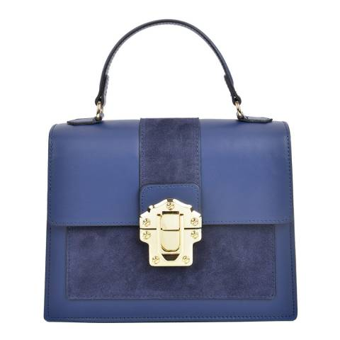 Isabella Rhea Navy Top Handle Bag